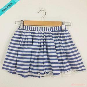 [GAP] Girls Blue/White Striped Flippy Skirt